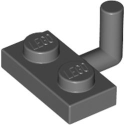 Dark Bluish Gray Plate, Modified 1 x 2 with Bar Arm Up (Undetermined Horizontal Arm Length Type) - used