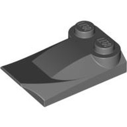 Dark Bluish Gray Slope, Curved 3 x 2 x 2/3 with Two Studs, Wing End