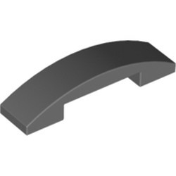 Dark Bluish Gray Slope, Curved 4 x 1 Double - used