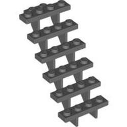 Dark Bluish Gray Stairs 7 x 4 x 6 Straight Open