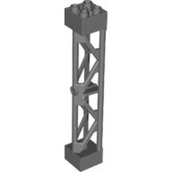 Dark Bluish Gray Support 2 x 2 x 10 Girder Triangular Vertical - Type 3 - 3 Posts, 2 Sections - new
