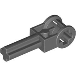 Dark Bluish Gray Technic, Axle 2 with Reverser Handle Axle Connector - used