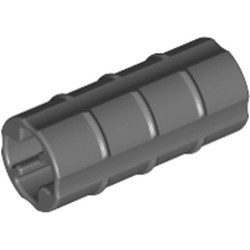 Dark Bluish Gray Technic, Axle Connector 2L (Ridged with x Hole x Orientation) - used