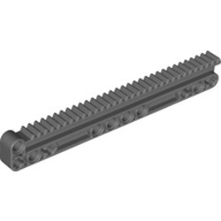 Dark Bluish Gray Technic, Gear Rack 1 x 14 x 2 with Axle and Pin Holes - used