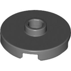 Dark Bluish Gray Tile, Round 2 x 2 with Open Stud