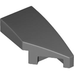 Dark Bluish Gray Wedge 2 x 1 x 2/3 with Stud Notch Right