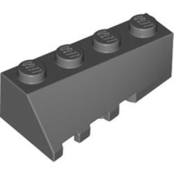 Dark Bluish Gray Wedge 4 x 2 Sloped Right - used