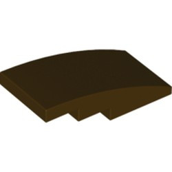 Dark Brown Slope, Curved 4 x 2 - new