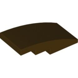 Dark Brown Slope, Curved 4 x 2