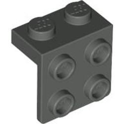 Dark Gray Bracket 1 x 2 - 2 x 2 - used
