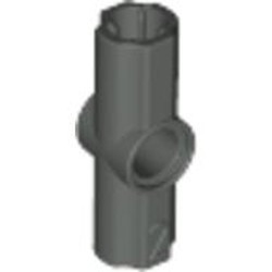 Dark Gray Technic, Axle and Pin Connector Angled #2 - 180 degrees