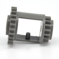 Dark Gray Technic, Gear Differential, 24-16 Teeth - used