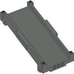 Dark Gray Track System Ramp Track 16 x 8 x 6