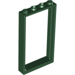 Dark Green Door, Frame 1 x 4 x 6 with Two Holes on Top and Bottom - new