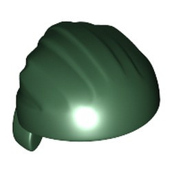Dark Green Minifigure, Headgear Hat, Cloth Wrap / Bandana, Rounded Top