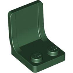 Dark Green Minifigure, Utensil Seat (Chair) - new 2 x 2 with Center Sprue Mark