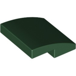 Dark Green Slope, Curved 2 x 2