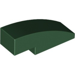 Dark Green Slope, Curved 3 x 1 - used