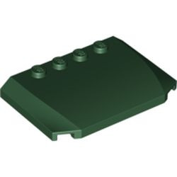 Dark Green Wedge 4 x 6 x 2/3 Triple Curved