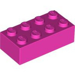 Dark Pink Brick 2 x 4 - new