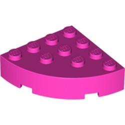 Dark Pink Brick, Round Corner 4 x 4 Full Brick - new