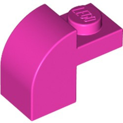 Dark Pink Slope, Curved 2 x 1 x 1 1/3 with Recessed Stud - used