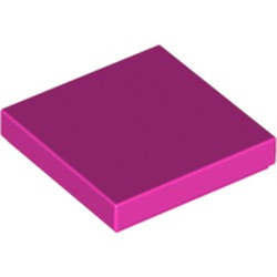 Dark Pink Tile 2 x 2 with Groove - used