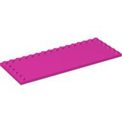 Dark Pink Tile, Modified 6 x 16 with Studs on Edges