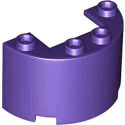 Dark Purple Cylinder Half 2 x 4 x 2 with 1 x 2 Cutout