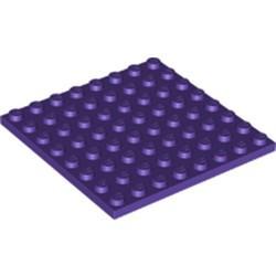 Dark Purple Plate 8 x 8 - new