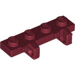Dark Red Hinge Plate 1 x 4 Locking Dual 1 Fingers on Side