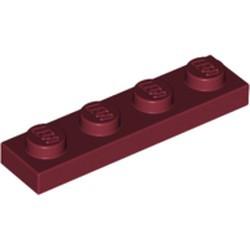 Dark Red Plate 1 x 4 - new