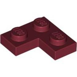 Dark Red Plate 2 x 2 Corner - used
