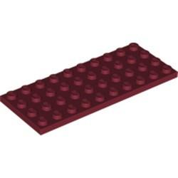 Dark Red Plate 4 x 10