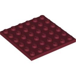 Dark Red Plate 6 x 6 - new