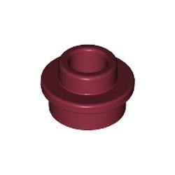 Dark Red Plate, Round 1 x 1 with Open Stud