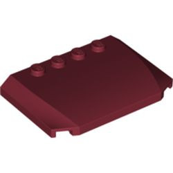 Dark Red Wedge 4 x 6 x 2/3 Triple Curved