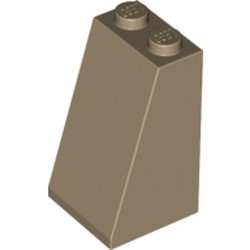 Dark Tan Slope 75 2 x 2 x 3 - Solid Studs - new