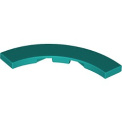 Dark Turquoise Tile, Round Corner 4 x 4 Macaroni Wide - new