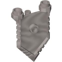Flat Silver Minifigure, Shield Pentagonal