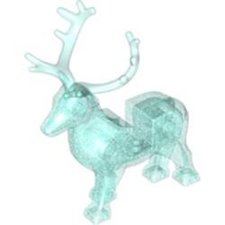 Glitter Trans-Light Blue Deer with Trans-Light Blue Antlers (Stag, Reindeer) - new