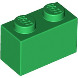 Green Brick 1 x 2 - new