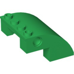 Green Slope, Curved 4 x 4 x 2 with Holes - used
