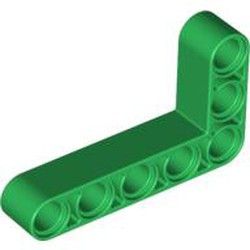 Green Technic, Liftarm, Modified Bent Thick L-Shape 3 x 5