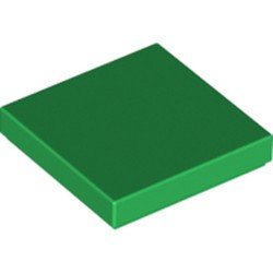 Green Tile 2 x 2 with Groove - new
