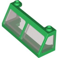 Green Windscreen 2 x 6 x 2 Train with Trans-Black Glass