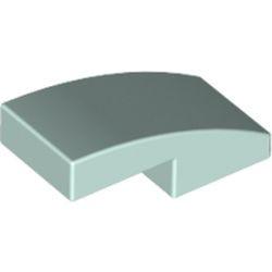 Light Aqua Slope, Curved 2 x 1