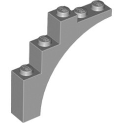 Light Bluish Gray Brick, Arch 1 x 5 x 4 - Continuous Bow - new