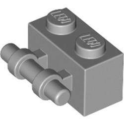 Light Bluish Gray Brick, Modified 1 x 2 with Bar Handle - new