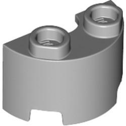 Light Bluish Gray Cylinder Half 1 x 2 x 1